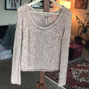 Free People Soft Beach Marled Knit Sweater XS